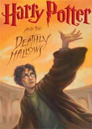 Capa do livro ''Harry Potter and the Deathly Hallows'', último da saga